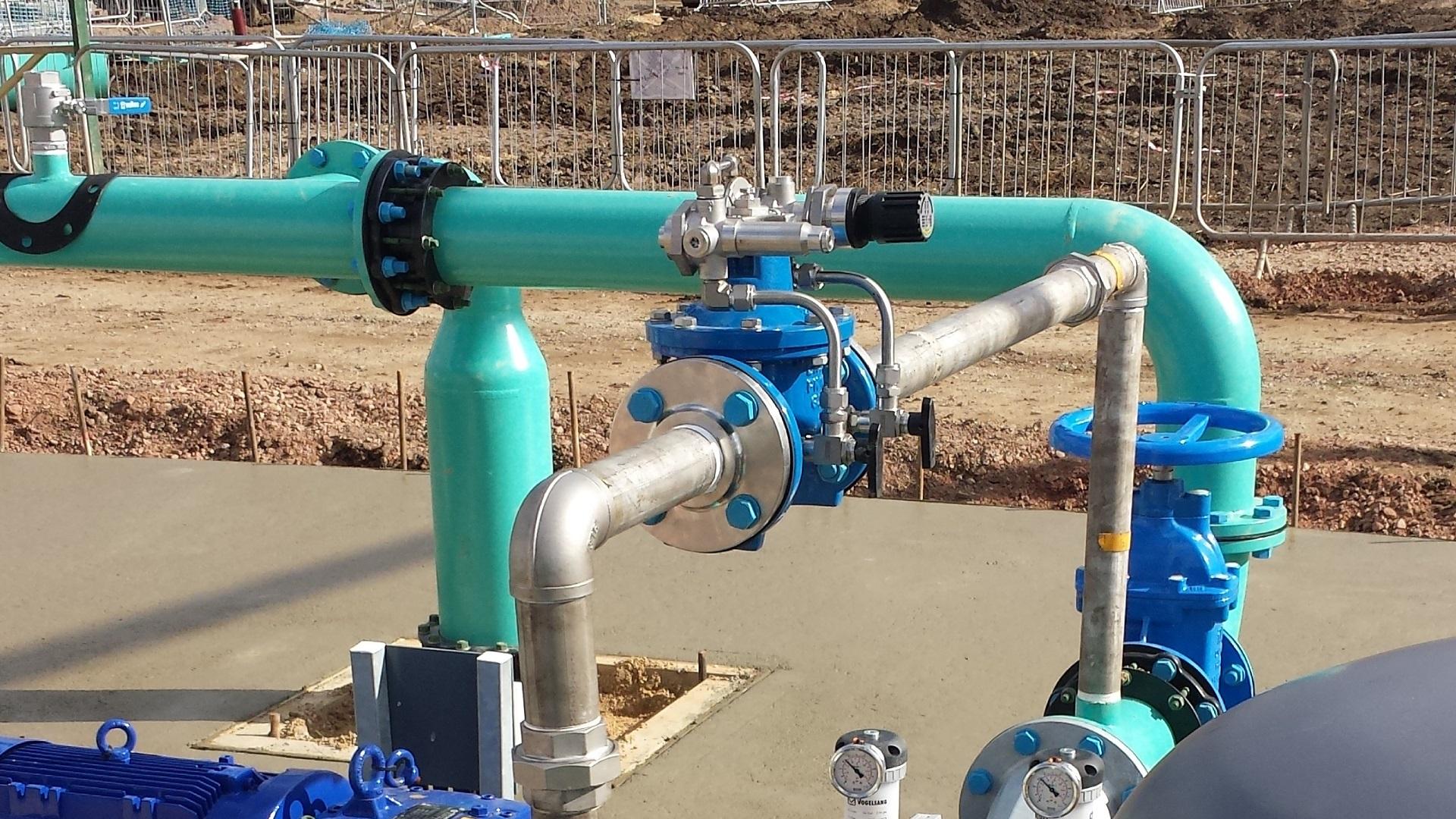 AVK control valve in pipeline