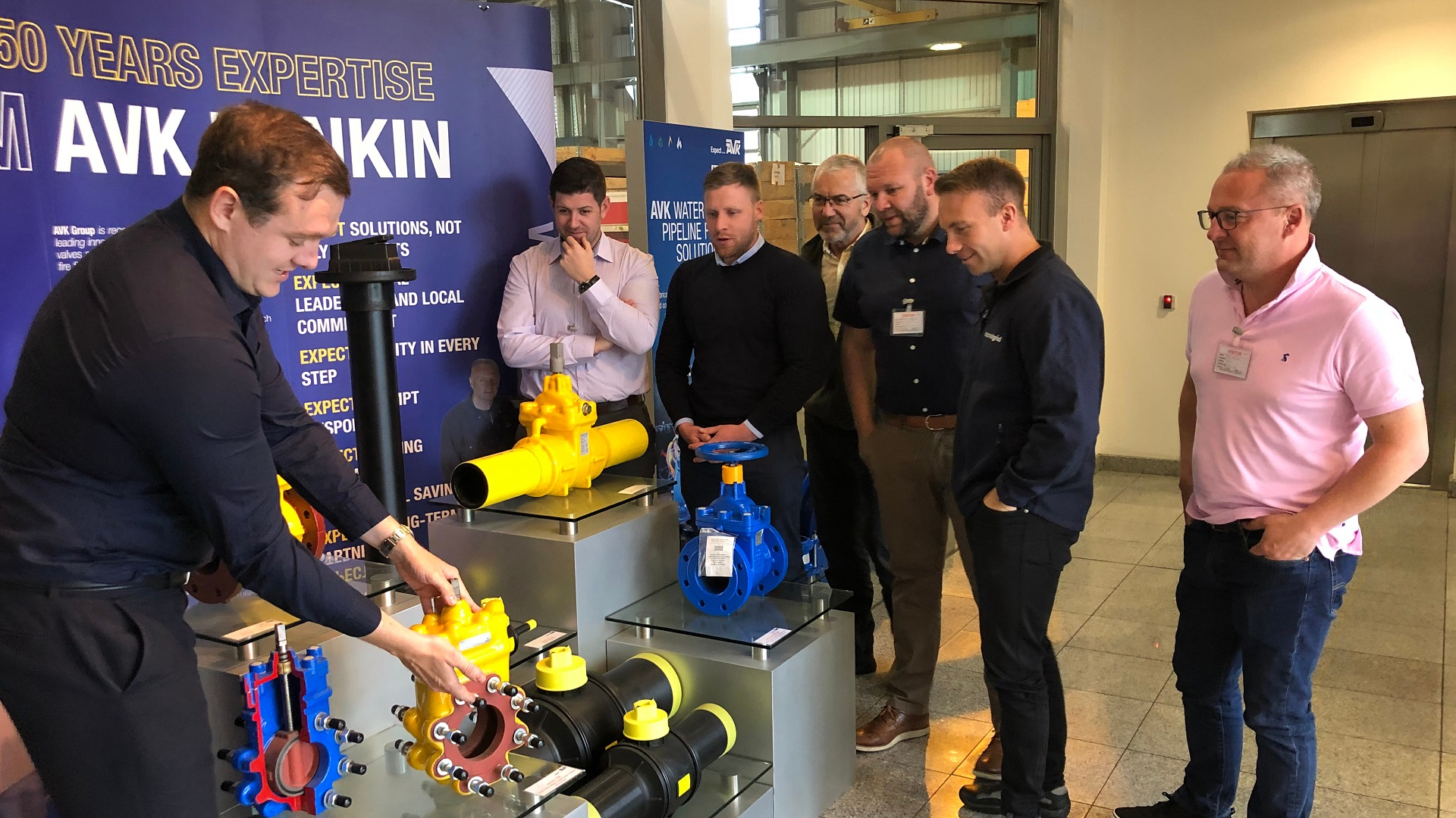 Donkin AVK training visit by National Grid