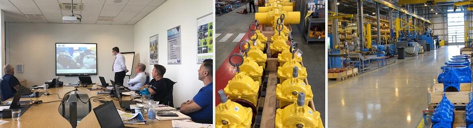 AVK Donkin training visit for National Grid