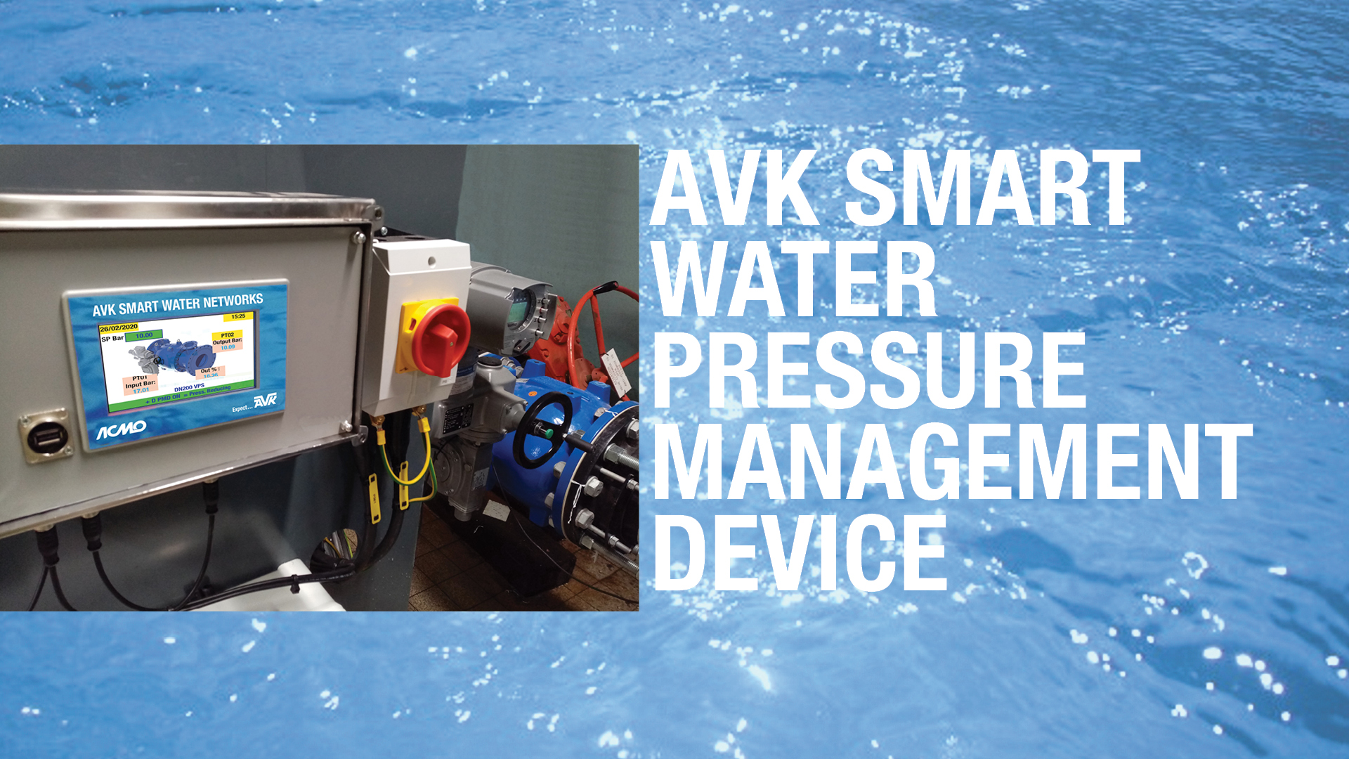 AVK Smart water Pressure management device