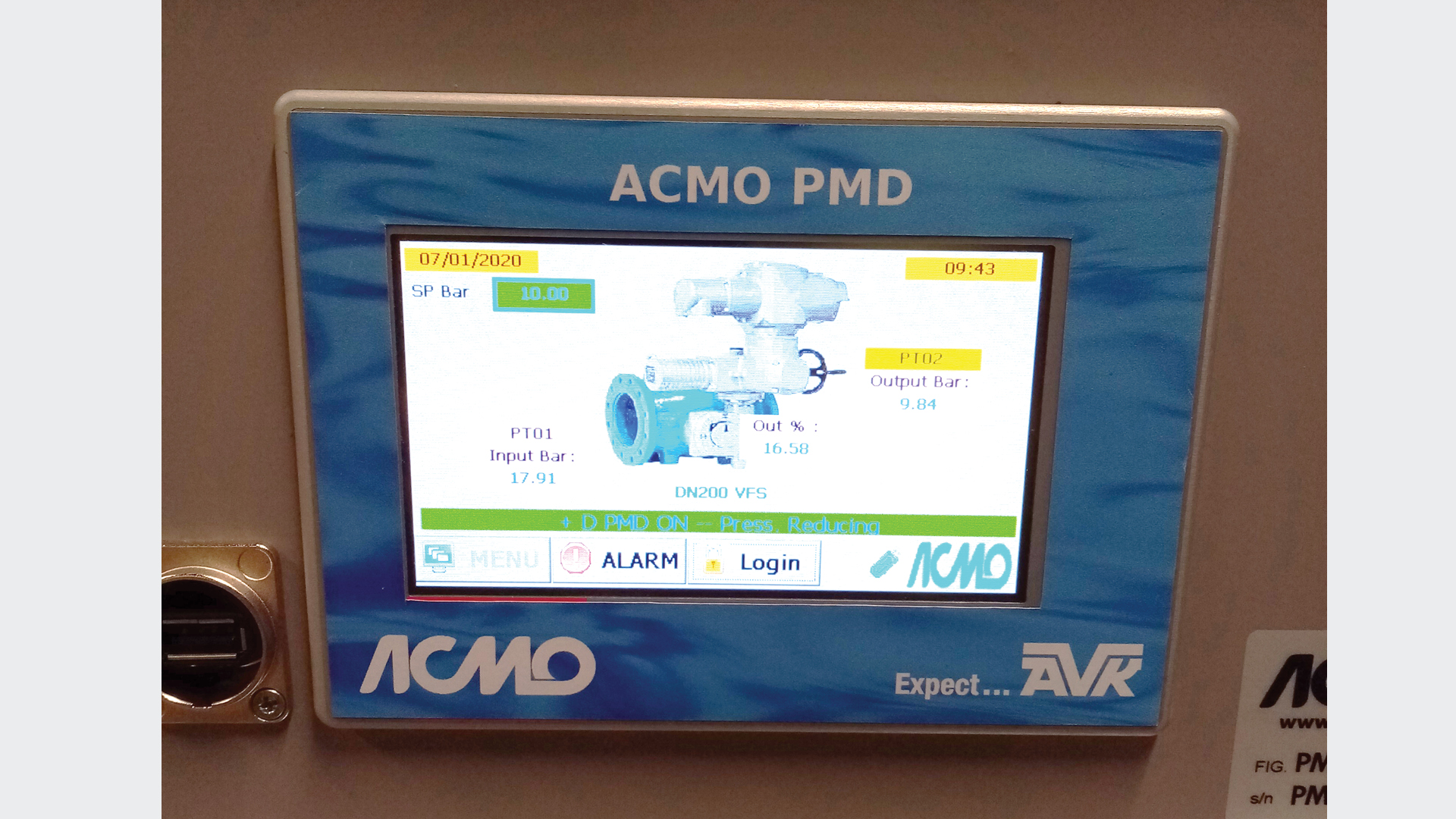 AVK Smart Water Pressure Management Device Display Monitor
