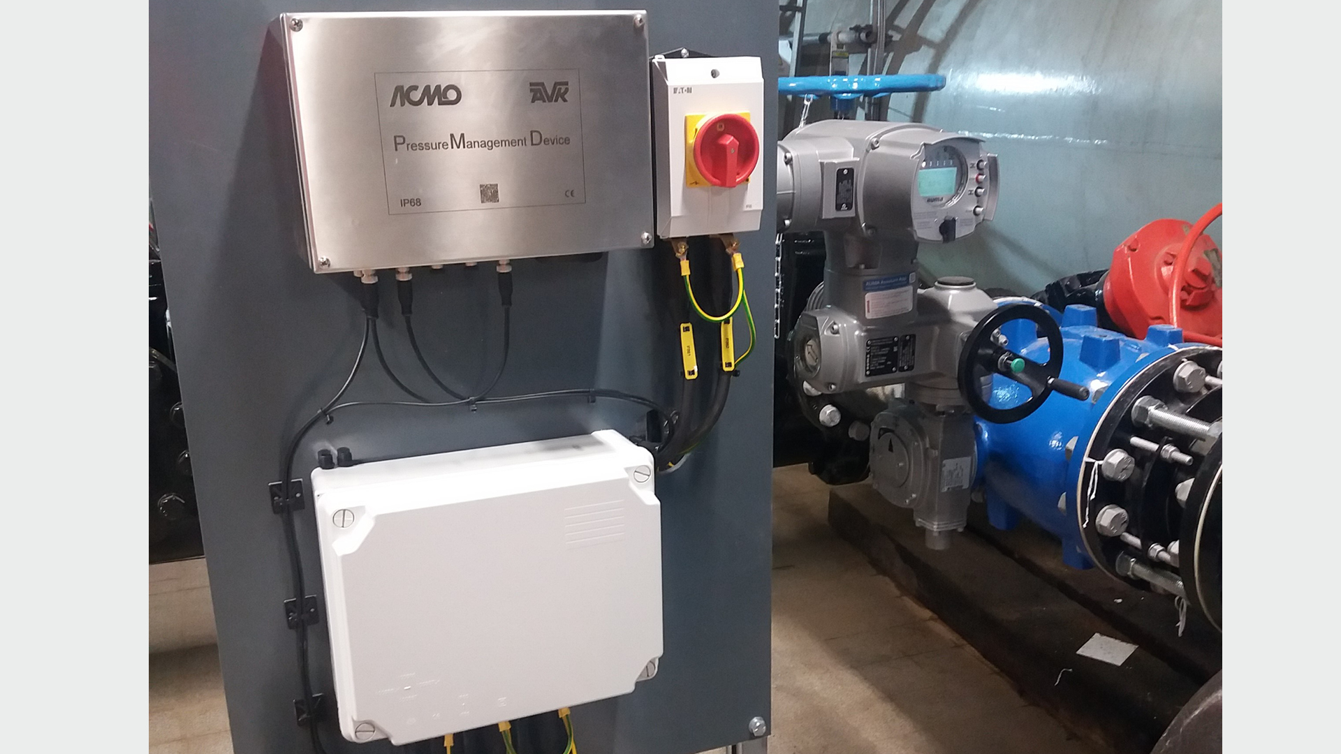 AVK Smart Water Pressure Management Device installation