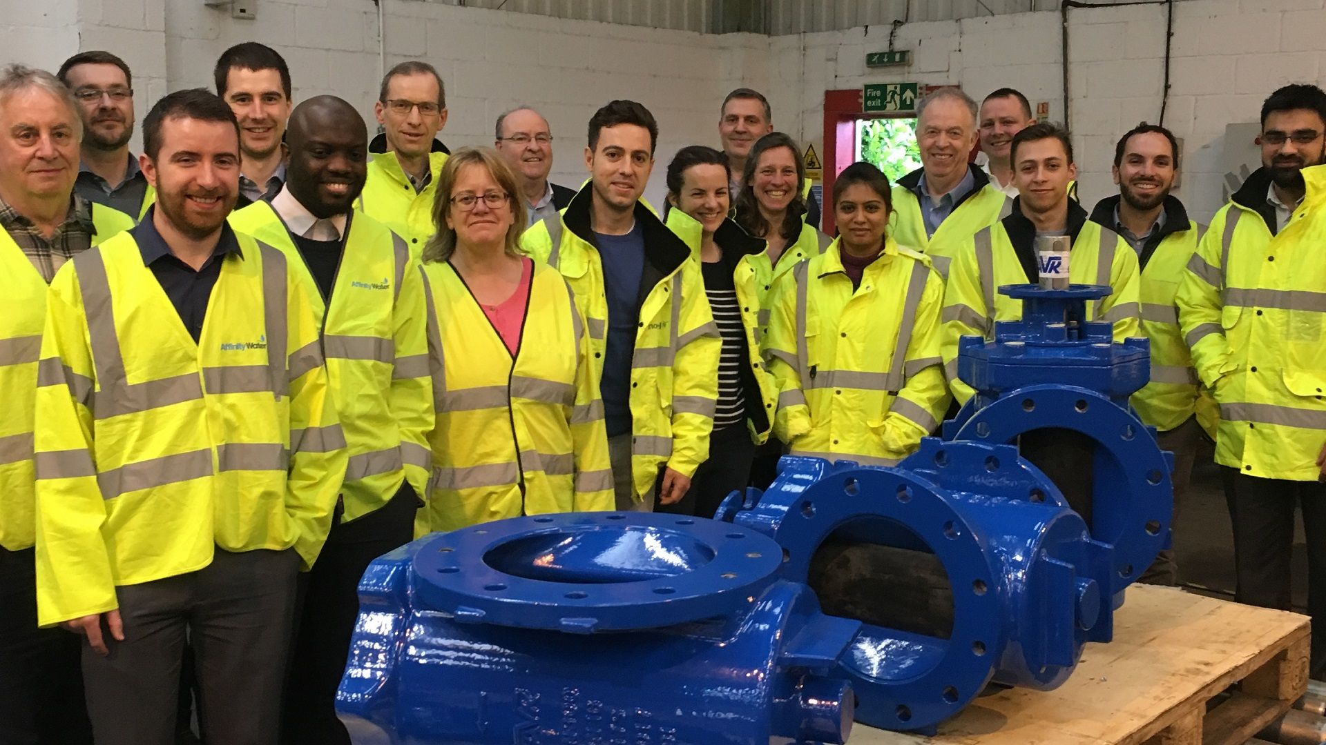 WSP Global Training and AVK Factory visit with AVK Eccentric Plug valves
