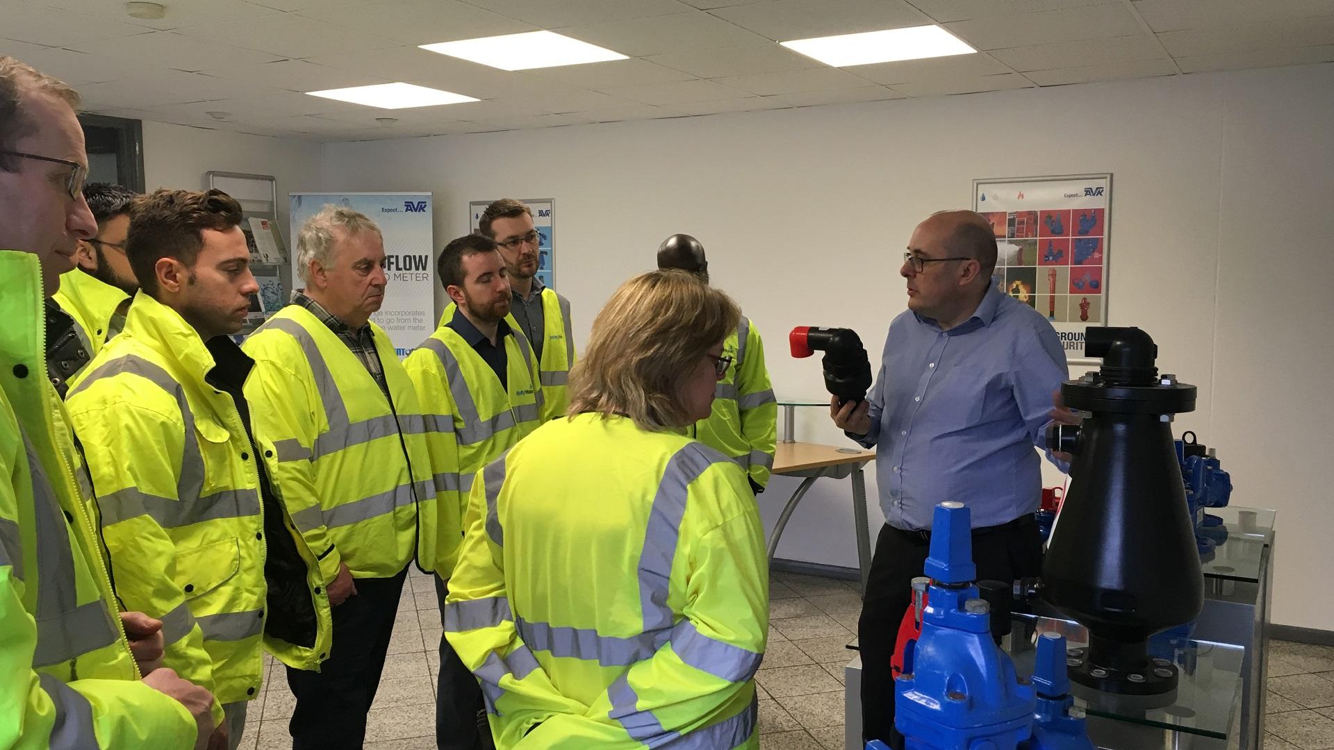 WSP Global Training and AVK Factory visit Stuart with AVK Air valves