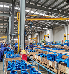 AVK China operations on valves in packing