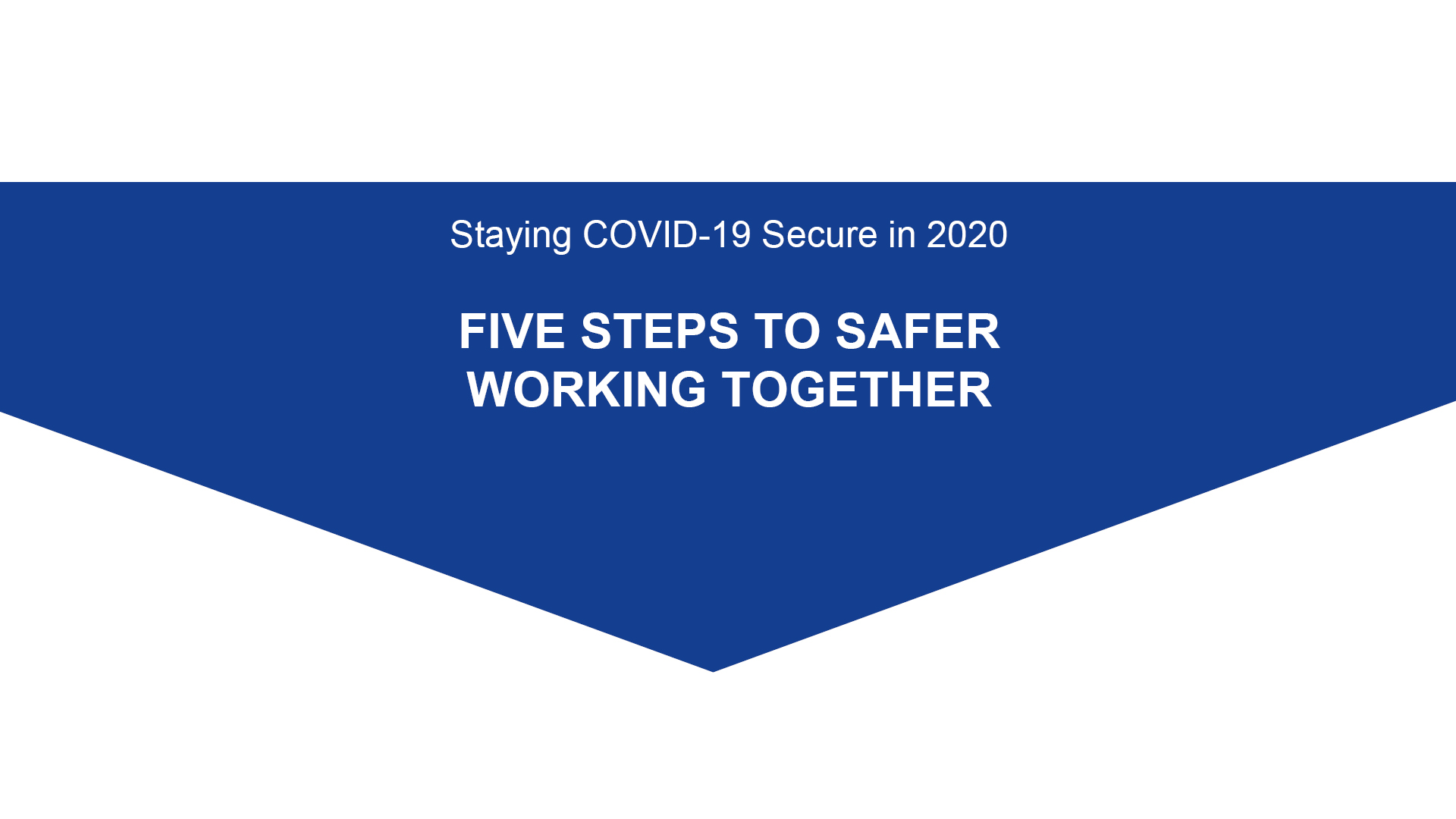 Staying Covid Secure 5 steps to safe working AVK UK