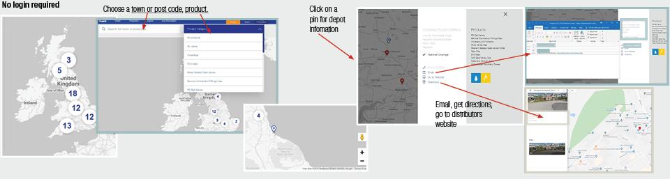 AVK UK Distributor Map Features