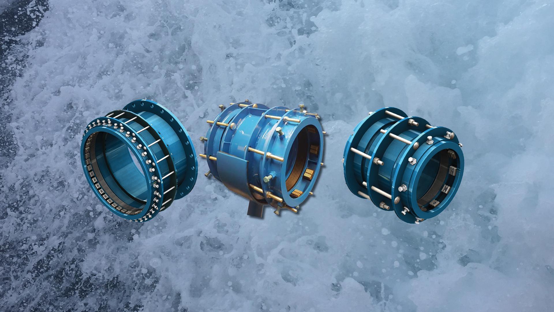 AVK Tensile Resistant Flange adpators and couplings