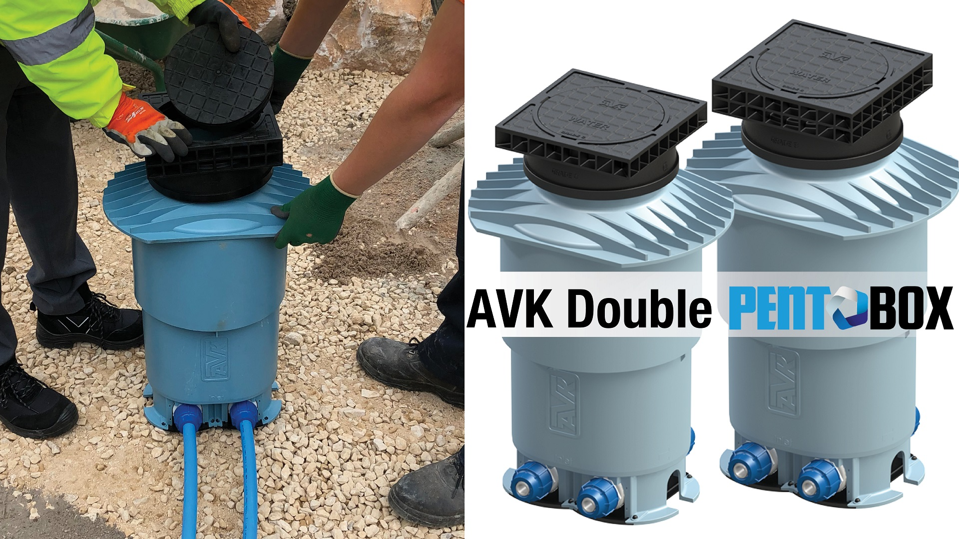 AVK Double Pentobox Water mains to meter