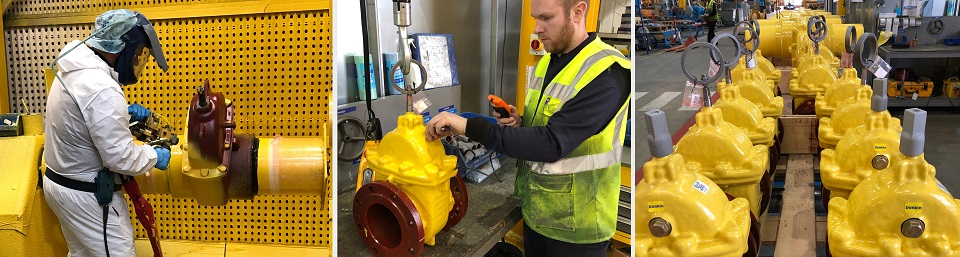 PUR Coated Gas Valves AVK Donkin