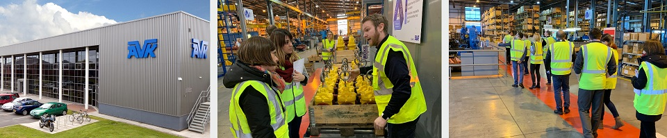 AVK LEAN training delegates and factory tour