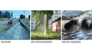 Vacuum air entrainment water hammer network safety