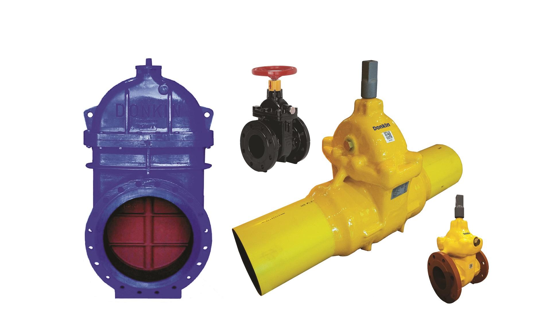 AVK Donkin gas gate valves soft seal GIS v7